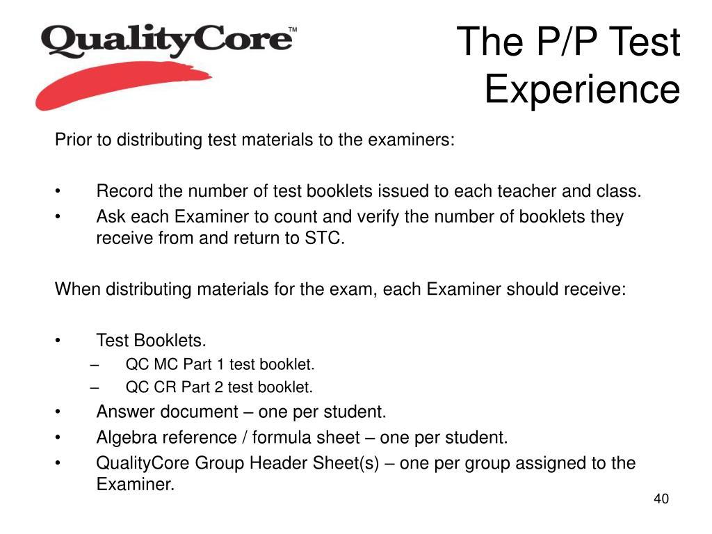 The P/P Test