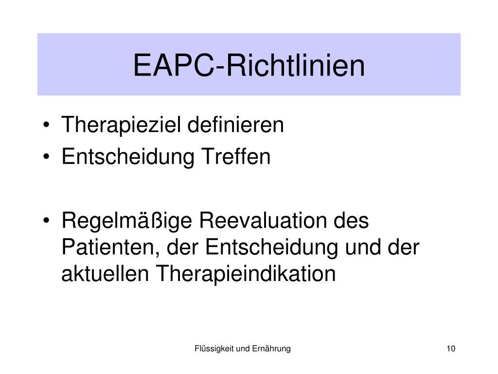 EAPC-Richtlinien