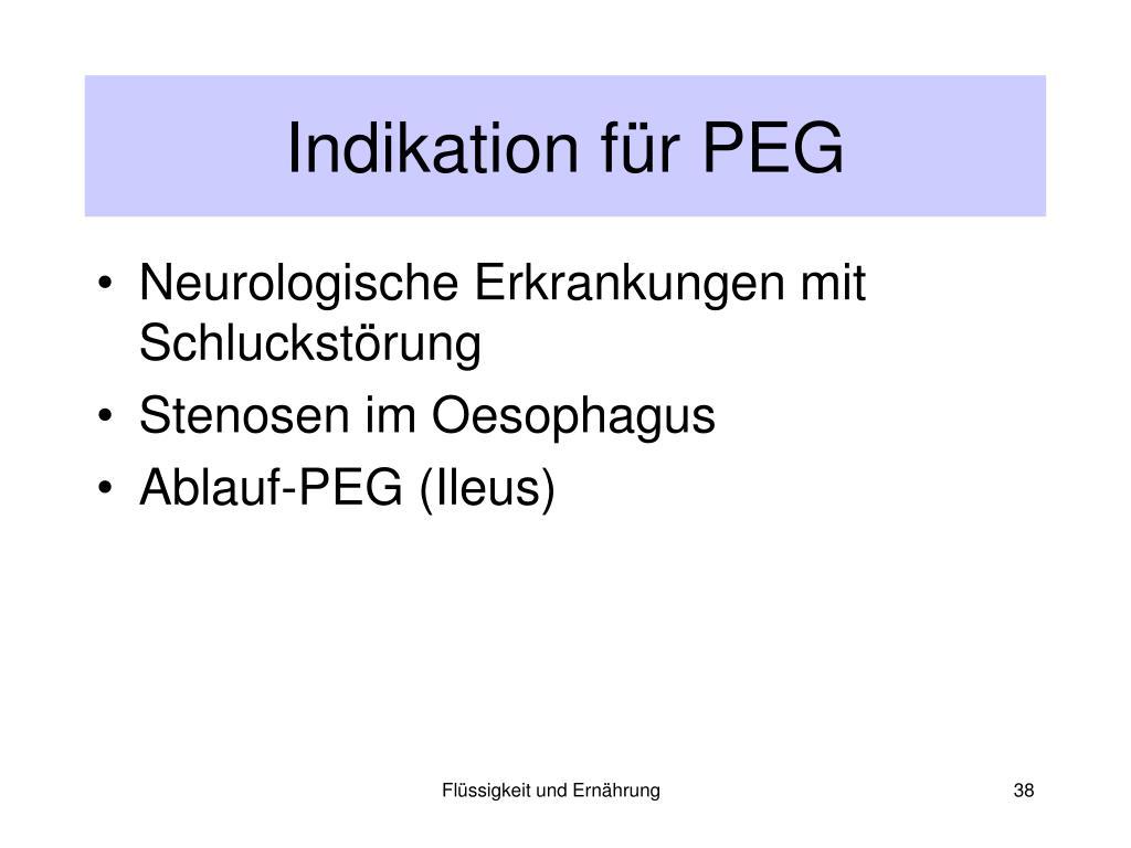 Indikation für PEG