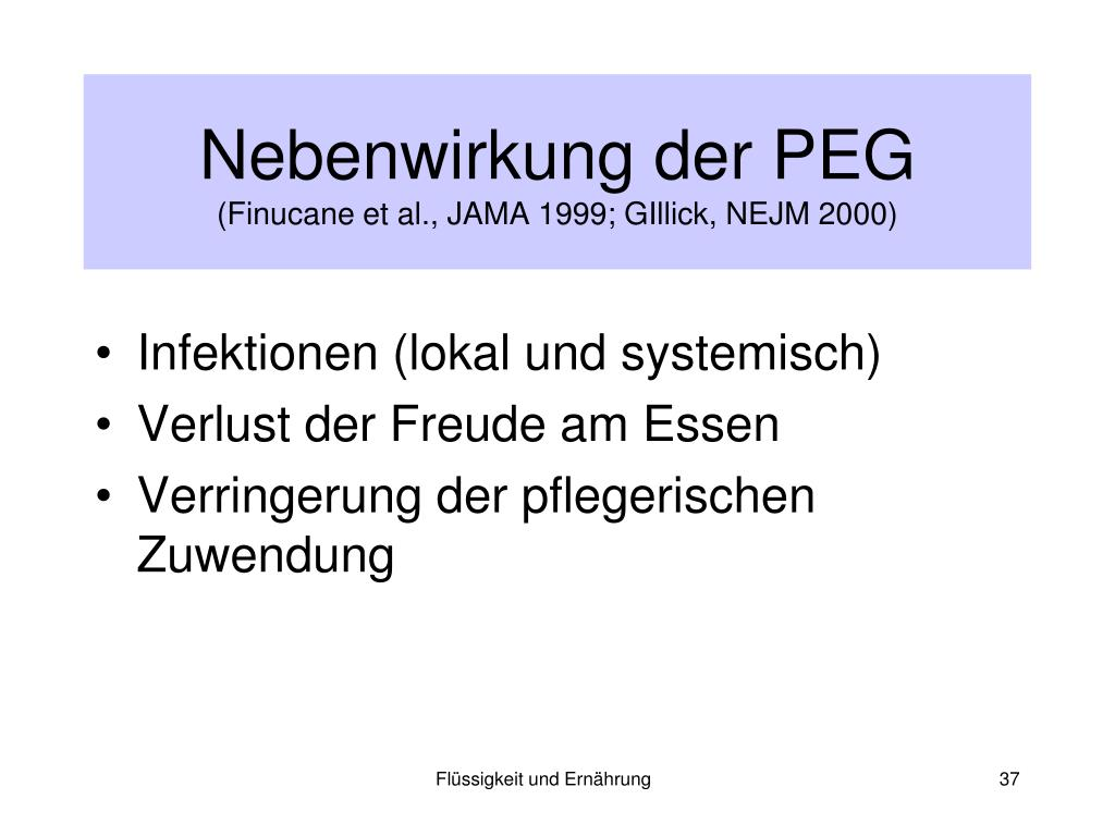 Nebenwirkung der PEG