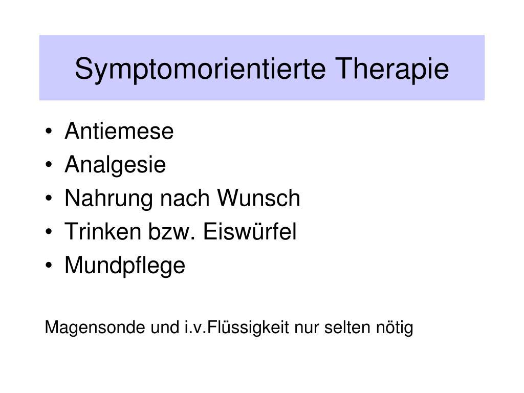 Symptomorientierte Therapie