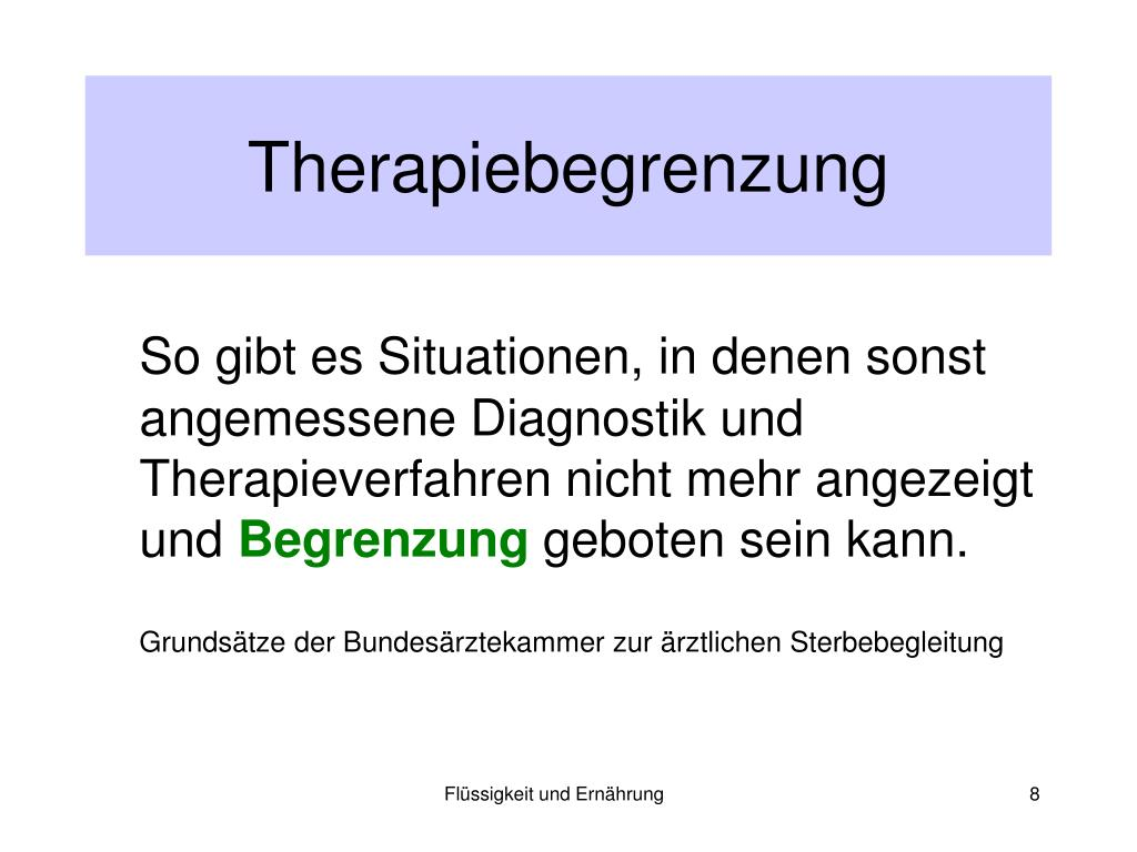 Therapiebegrenzung
