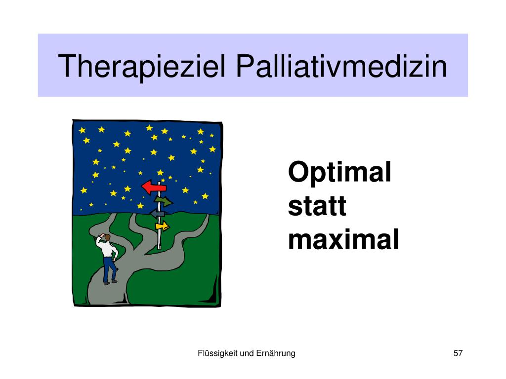 Therapieziel Palliativmedizin