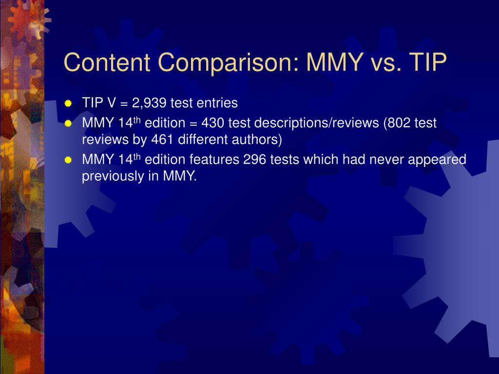 Content Comparison: MMY vs. TIP
