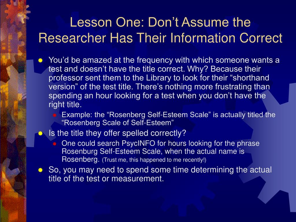 Lesson One: Don't Assume the Researcher Has Their Information Correct
