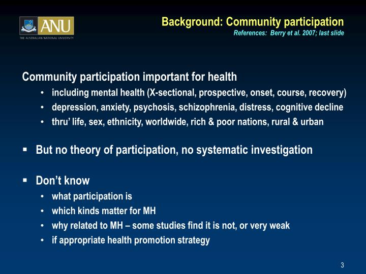 Background community participation references berry et al 2007 last slide l.jpg