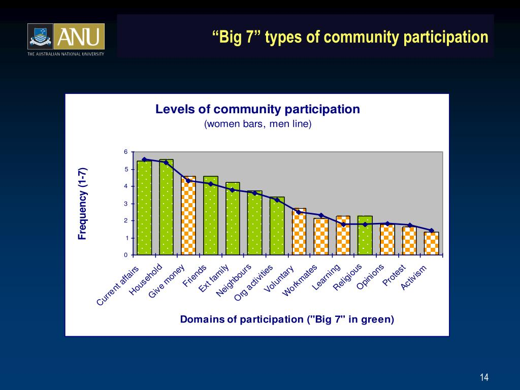 """Big 7"" types of community participation"