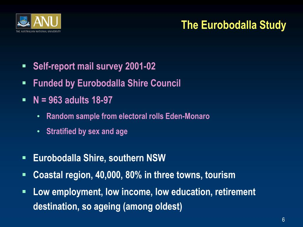 The Eurobodalla Study