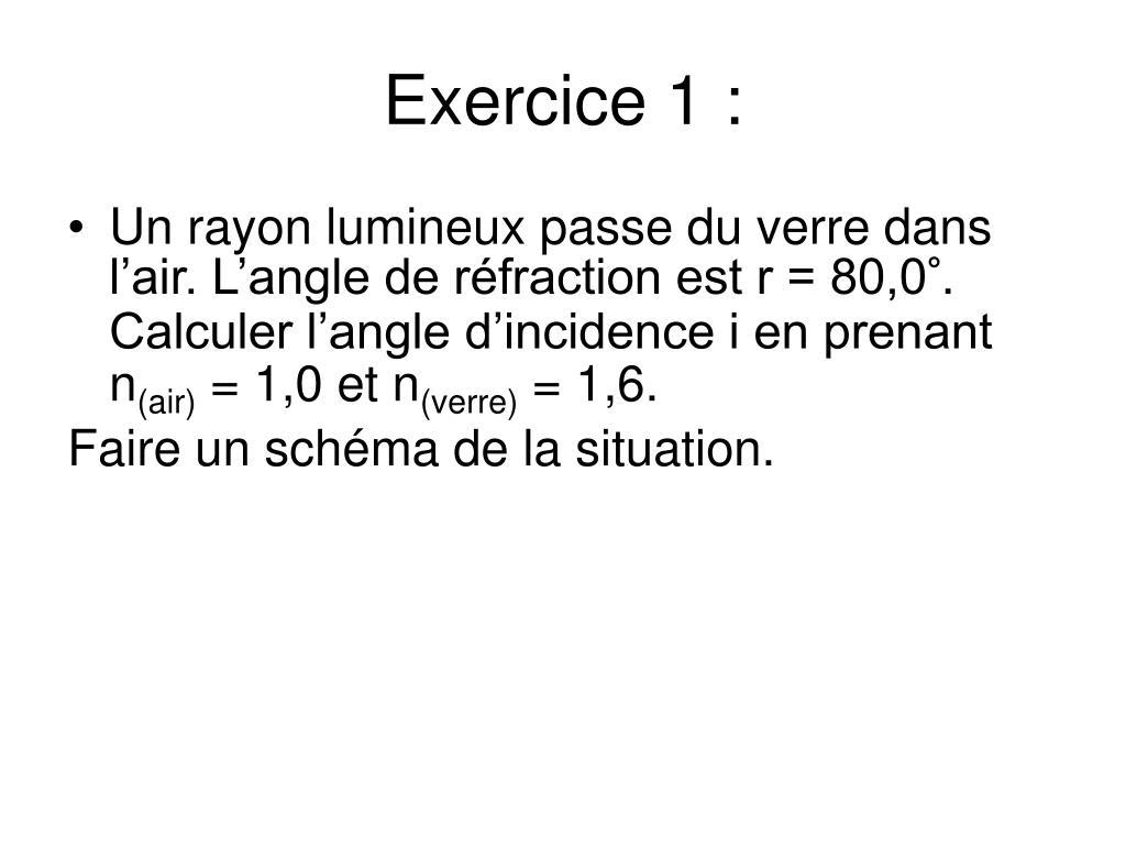 Exercice 1 :