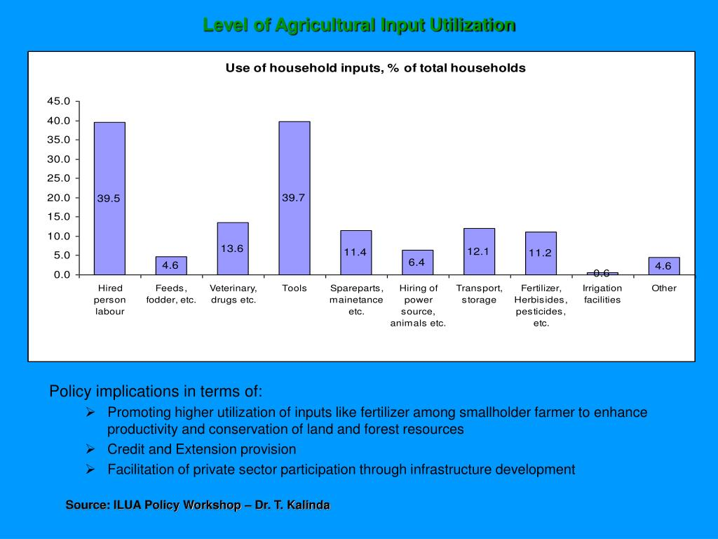 Level of Agricultural Input Utilization