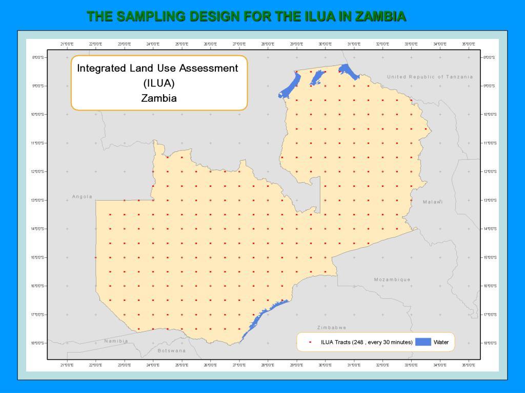 THE SAMPLING DESIGN FOR THE ILUA IN ZAMBIA