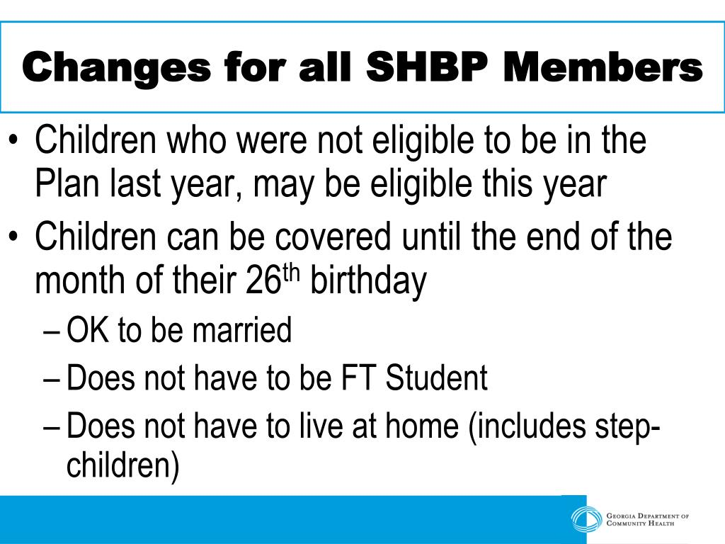 Changes for all SHBP Members