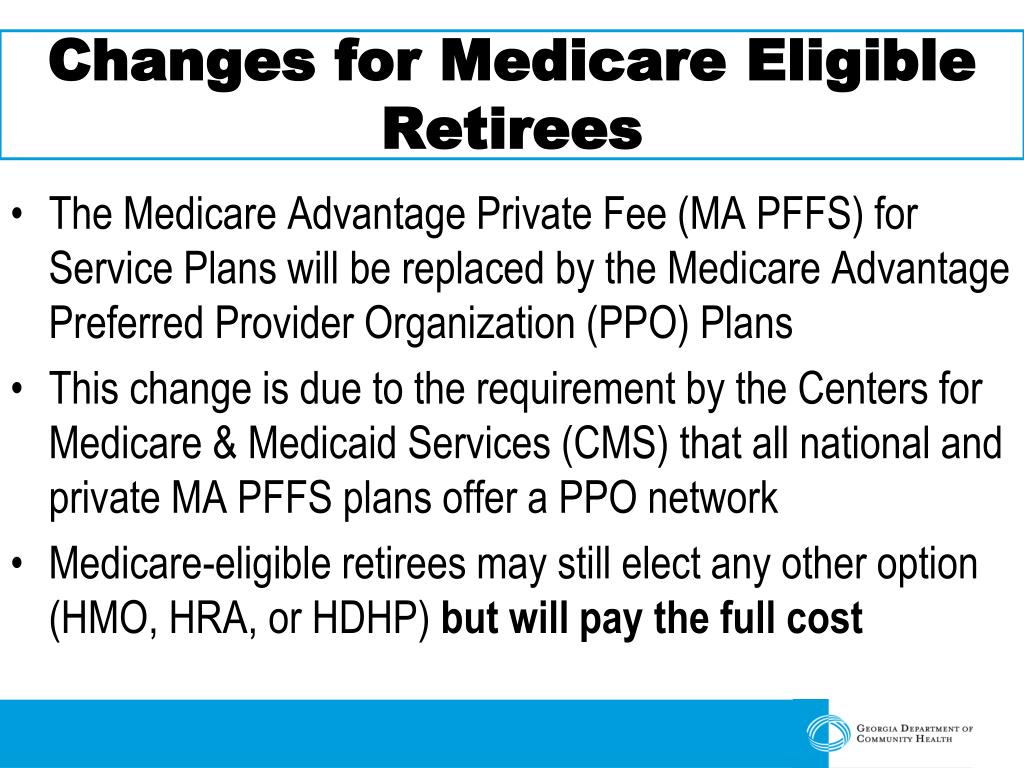 Changes for Medicare Eligible Retirees