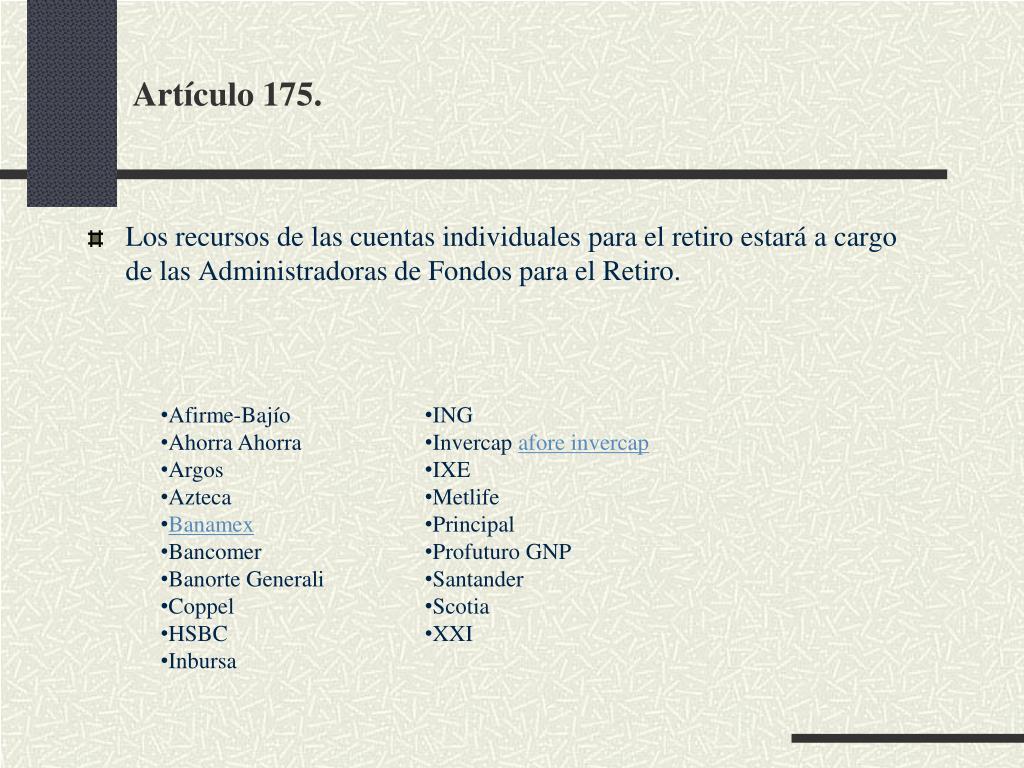 Artículo 175.