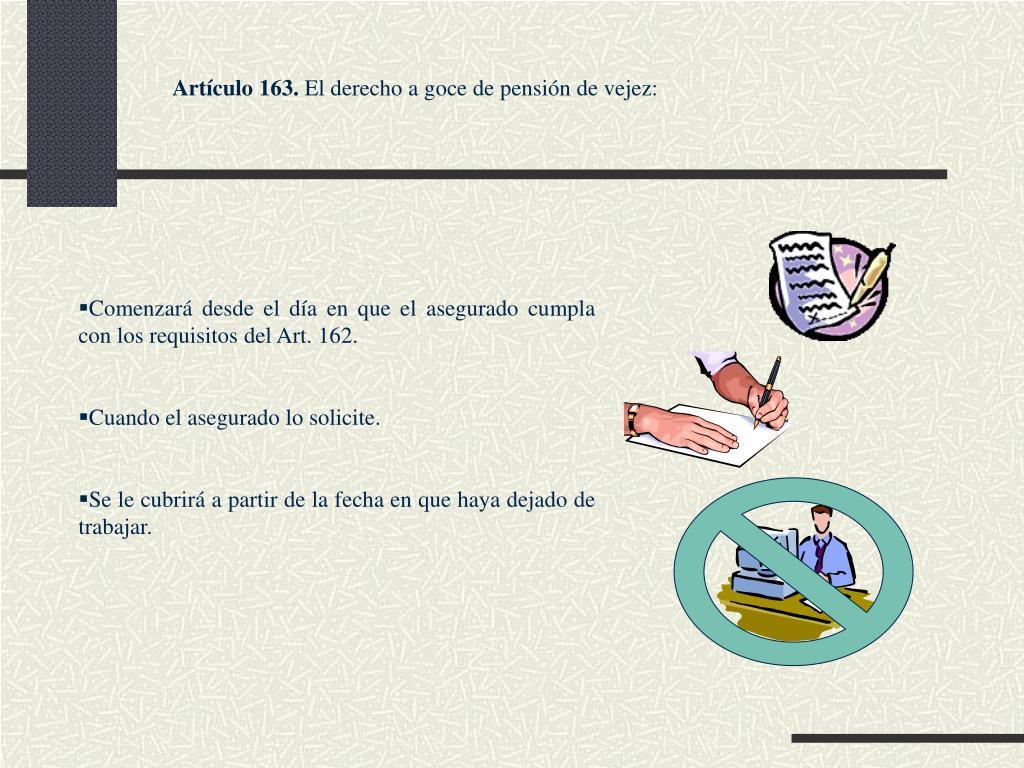 Artículo 163.