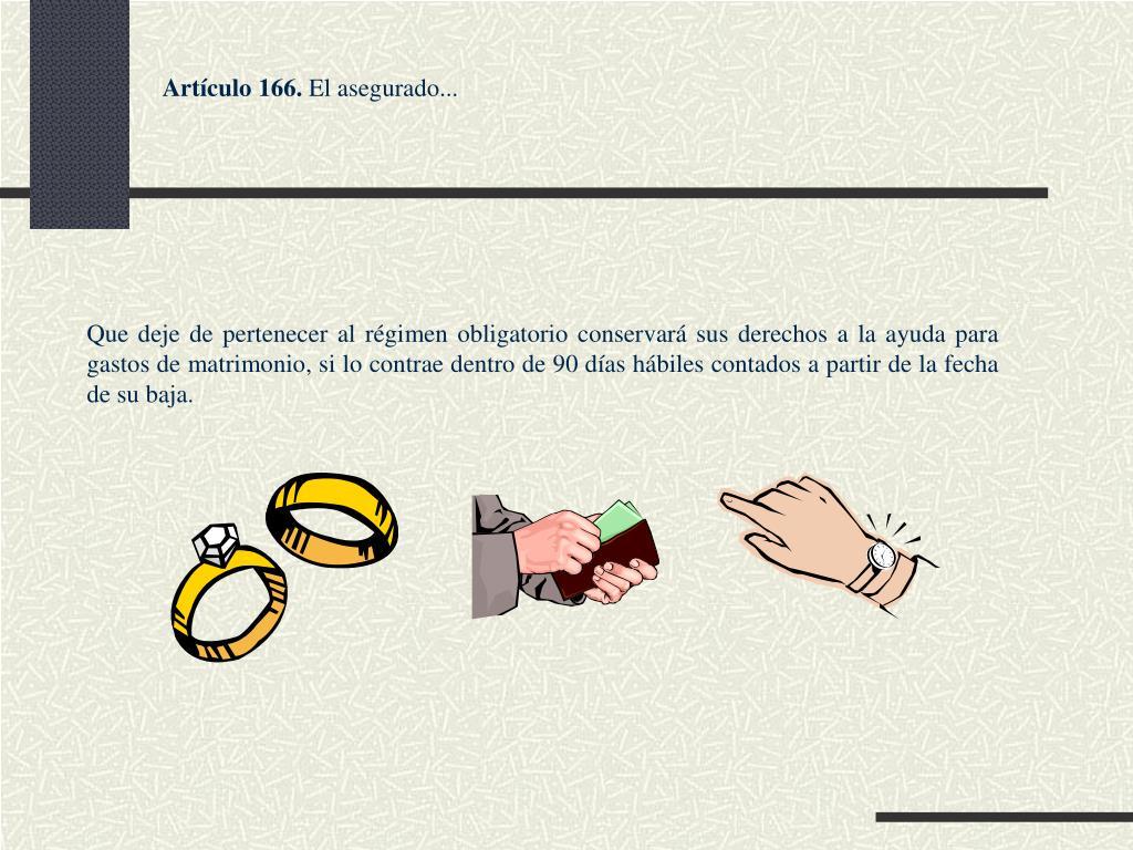 Artículo 166.