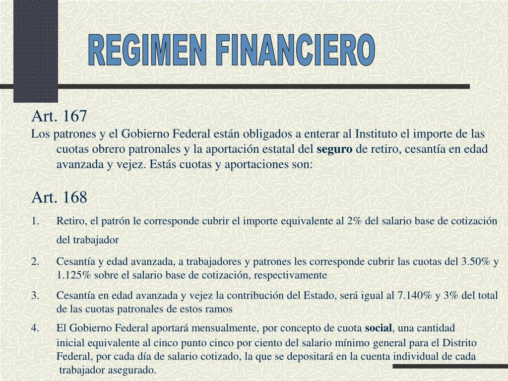 REGIMEN FINANCIERO
