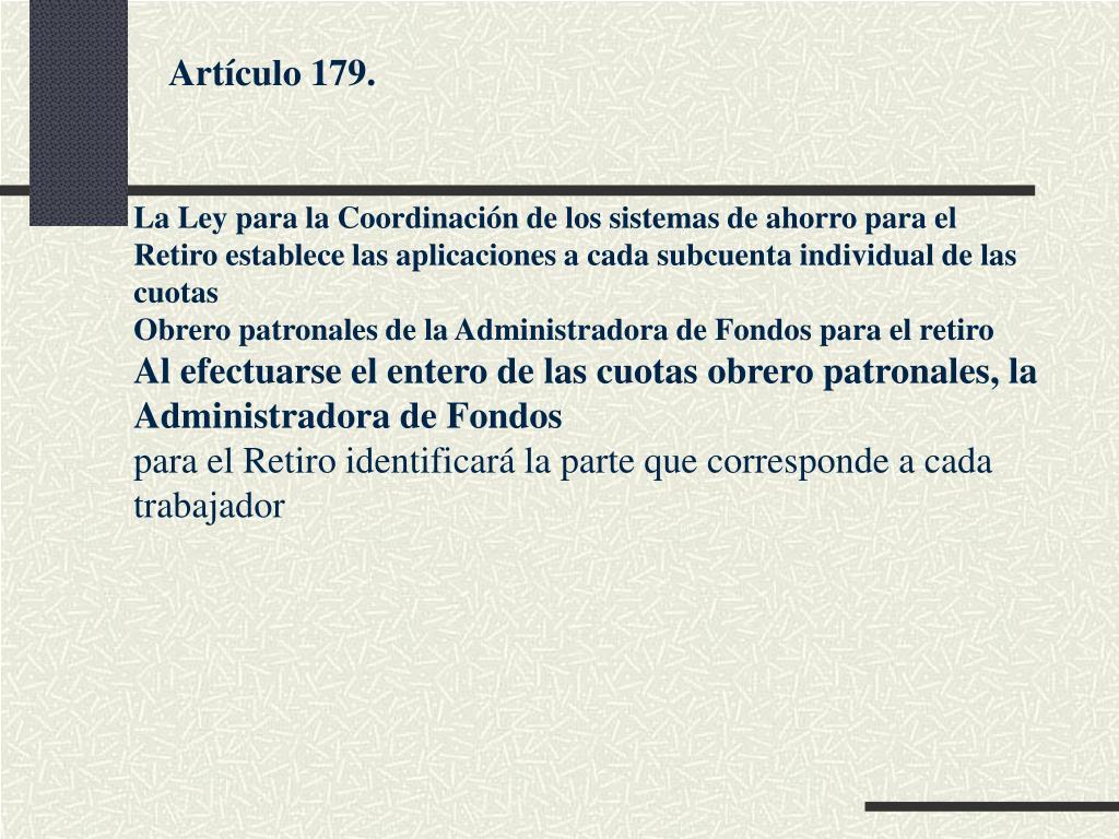 Artículo 179.