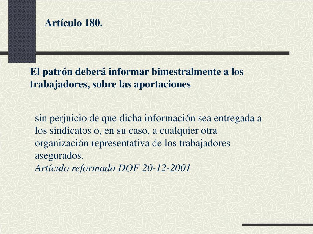 Artículo 180.