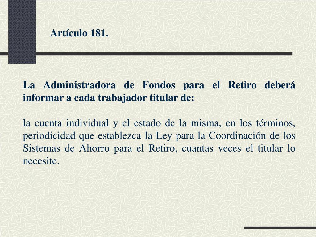 Artículo 181.