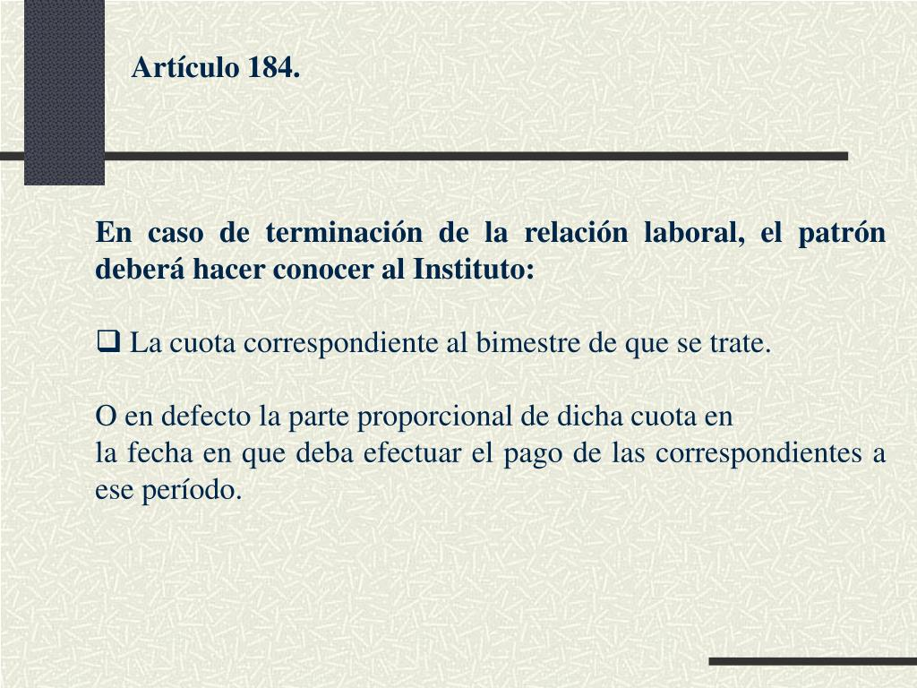 Artículo 184.