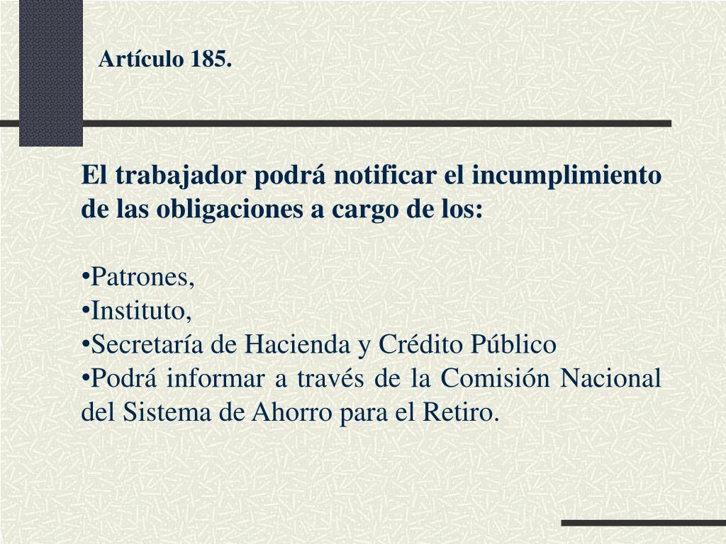 Artículo 185.