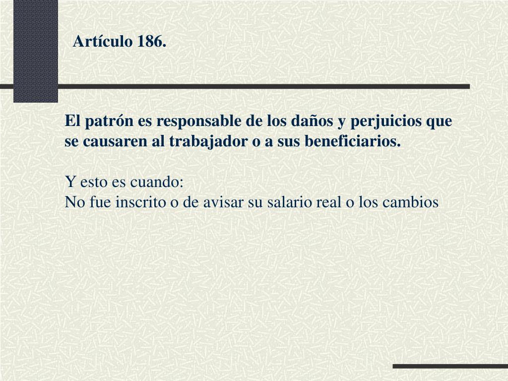 Artículo 186.