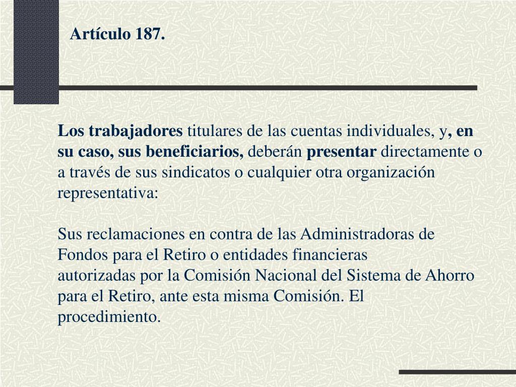 Artículo 187.