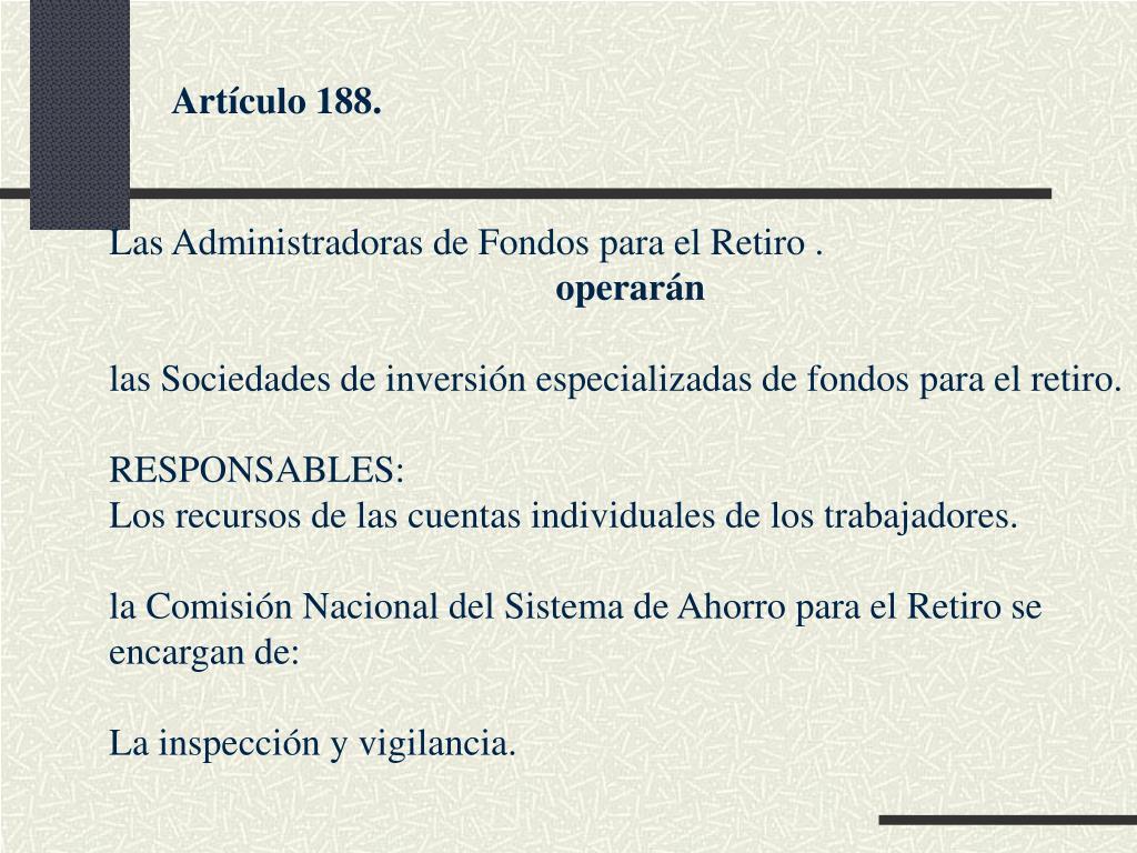 Artículo 188.