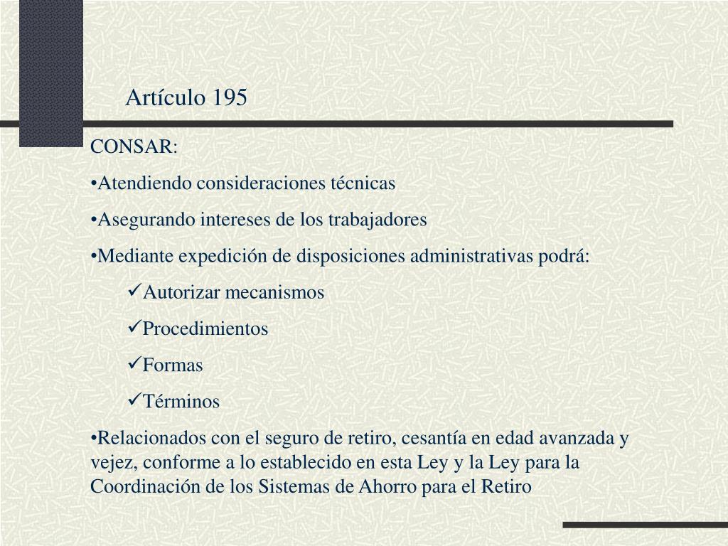 Artículo 195