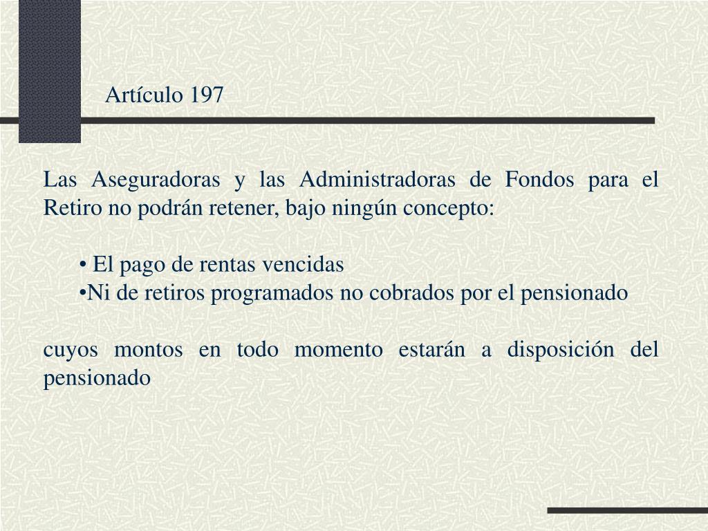Artículo 197
