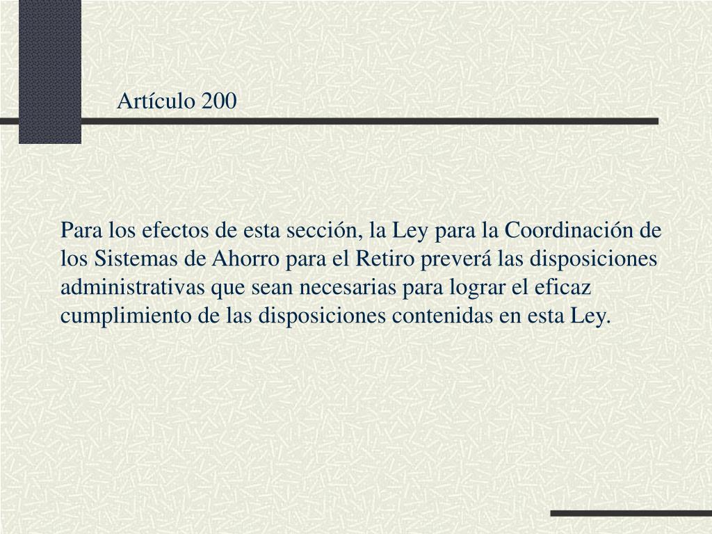 Artículo 200
