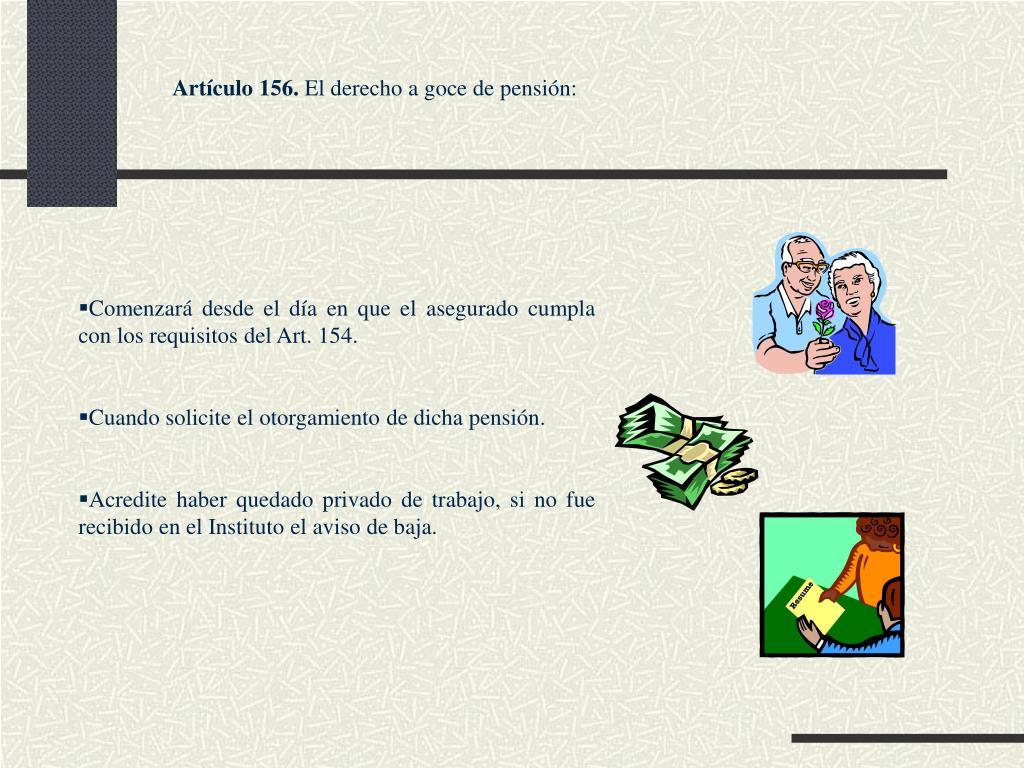 Artículo 156.