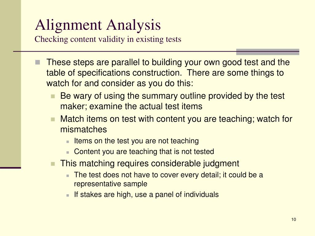 Alignment Analysis