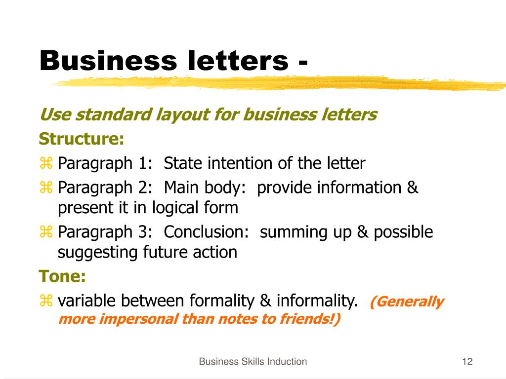 Business letters -