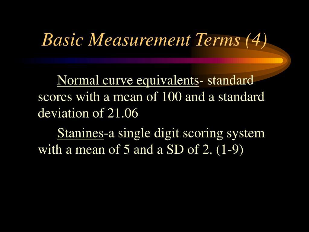 Basic Measurement Terms (4)