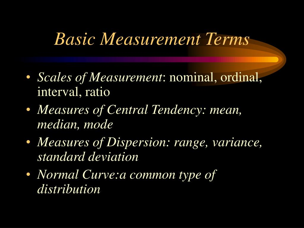 Basic Measurement Terms