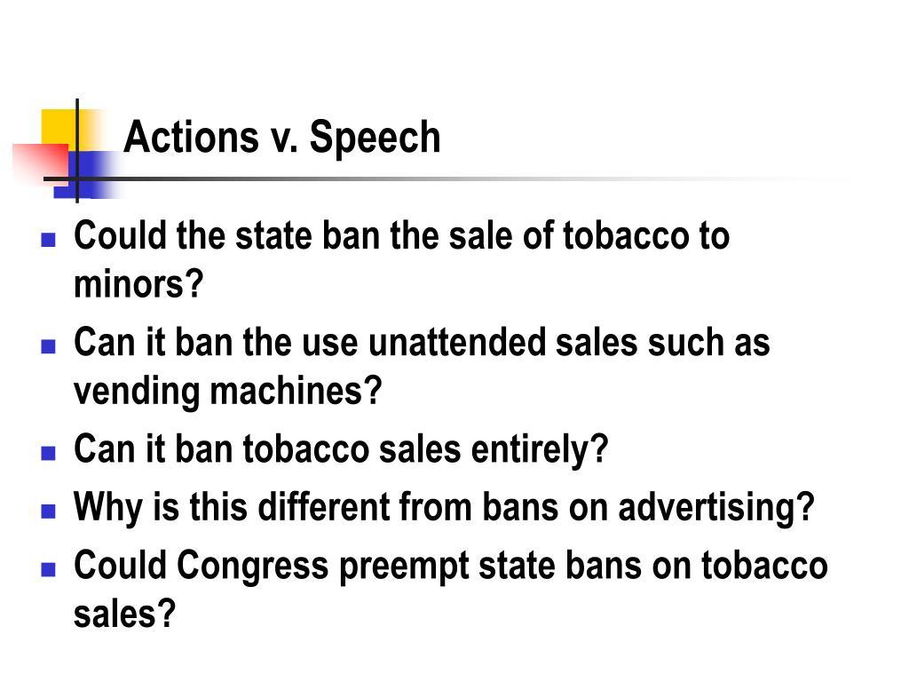 Actions v. Speech