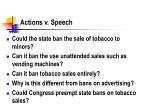 actions v speech