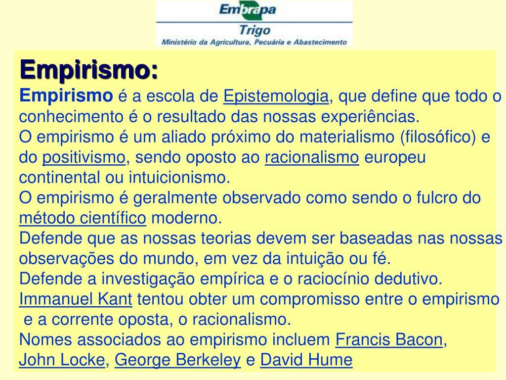 Empirismo: