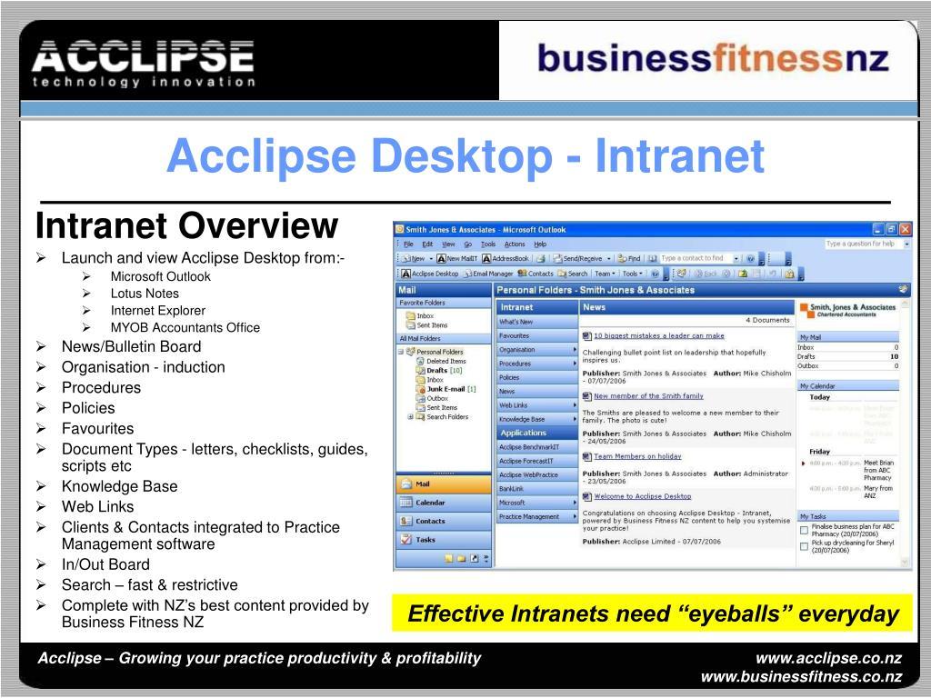 Acclipse Desktop - Intranet