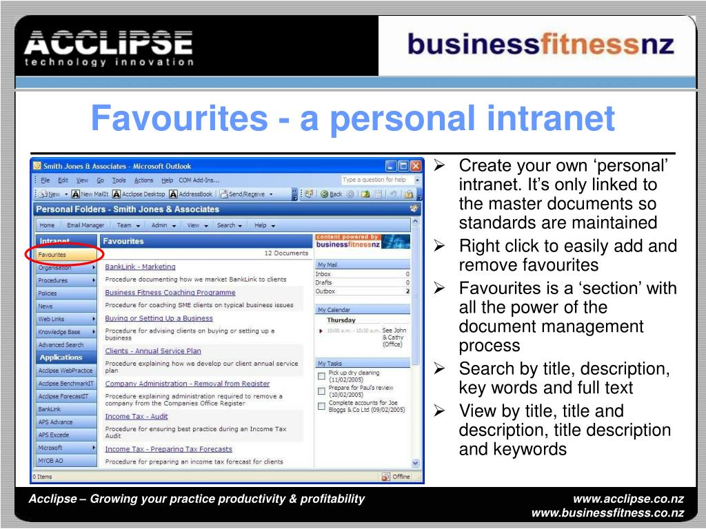 Create your own 'personal' intranet. It's only linked to the master documents so standards are maintained