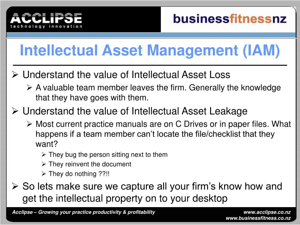 Intellectual Asset Management (IAM)