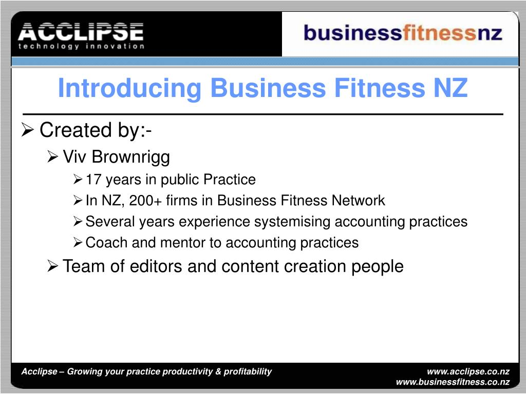Introducing Business Fitness NZ