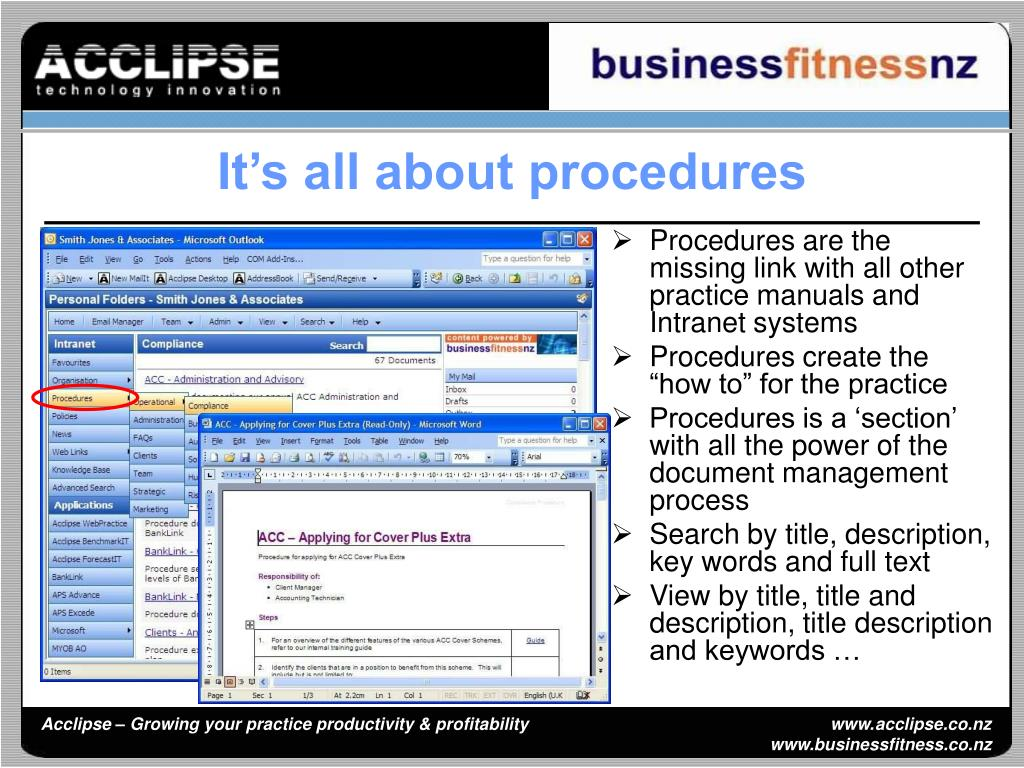 It's all about procedures