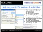mail merge with pm systems auto filing