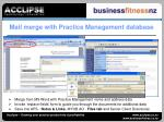 mail merge with practice management database