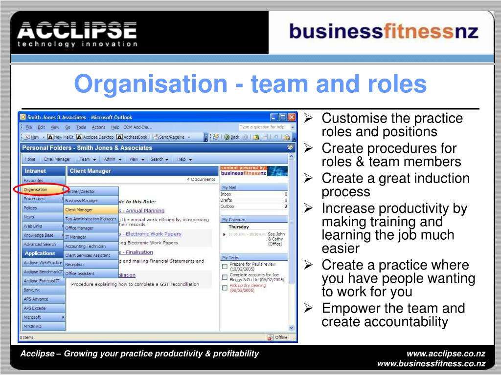 Customise the practice roles and positions