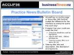 practice news bulletin board