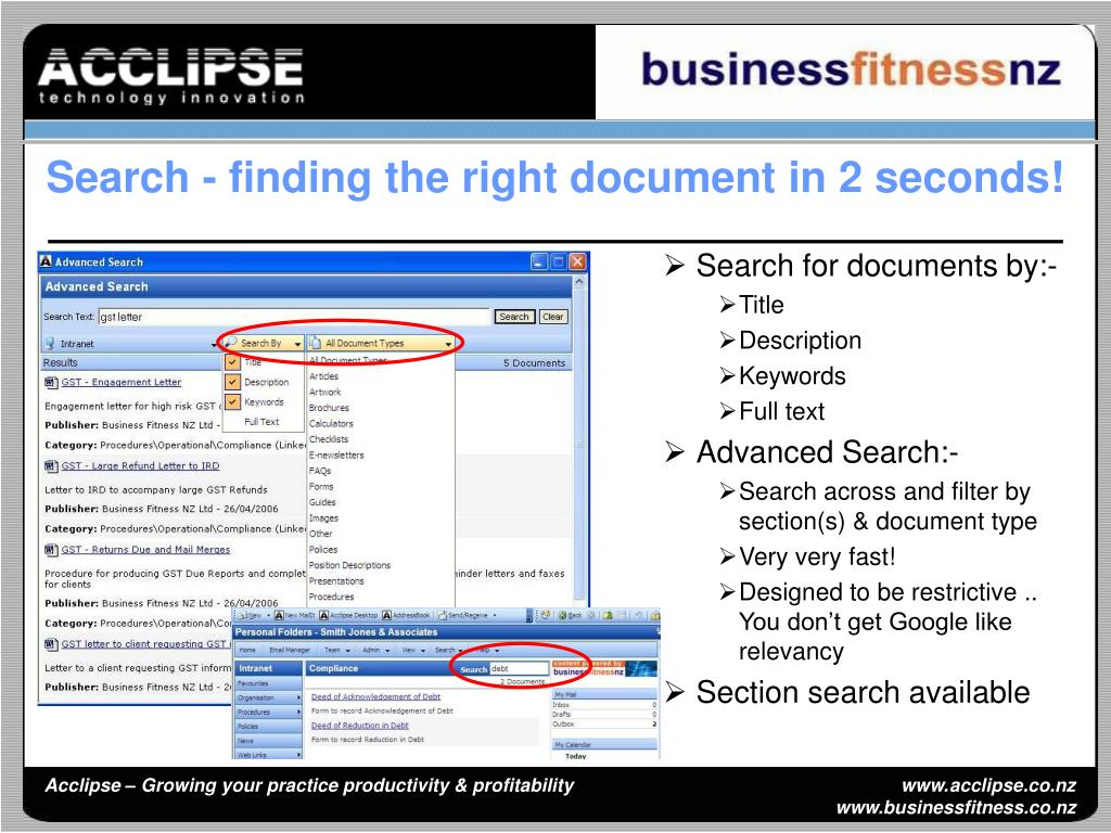 Search for documents by:-